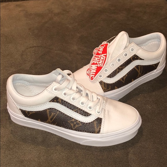 ef4c89818e Customs vans  authentic Louis Vuitton leather sz5